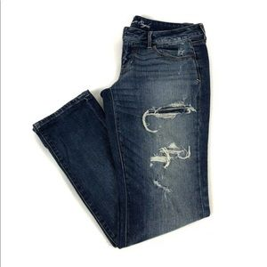 American Eagle Stretch Distressed Skinny Jean